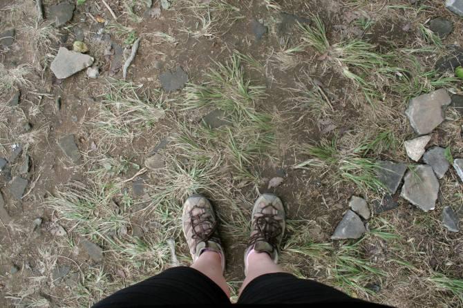 takeda castle ruins feet