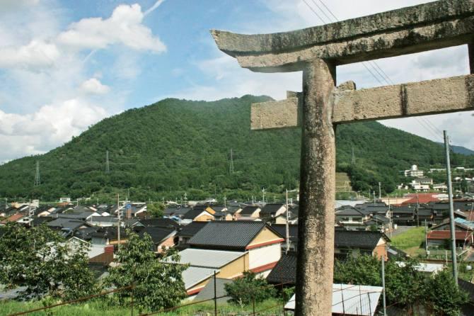 takeda castle shrine entrance